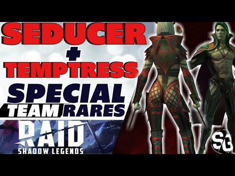 SEDUCTION TIME! Seducer + Temptress lv60 Special team skills Raid Shadow Legends Seducer Temptress