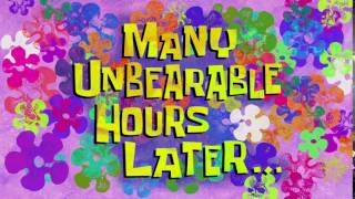 Many Unbearable Hours Later...   SpongeBob Time Card #140