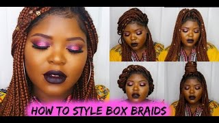 10 CUTE AND EASY STYLES FOR BOX BRAIDS #PROTECTIVESTYLES