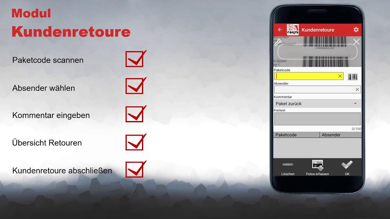 Erfassung von Kundenretouren digitalisiert | COSYS Pakettransport App