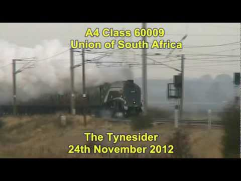 A4 Pacific 60009 'Union of South Africa' on the Tynesider 24th November 2012