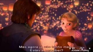Tangled - I See the Light  *EU Portuguese* (Lyrics) HD