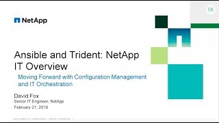 WEBINAR: Ansible and Trident NetApp IT Overview
