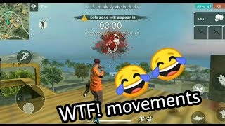 FREE FIRE WTF MOVEMENT!! 😂😂ON THE TOP OF FACTORY !! MUST WATCH