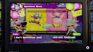 [60 FPS] Intro: Spongebob VS Patrick - Splatfest - Splatoon