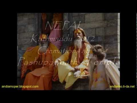 Cremations at Pashupatinath Temple.