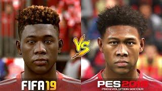 FIFA 19 Vs. PES 2019 | Best Defender Faces | LB, CB, RB | Gameplay Comparison