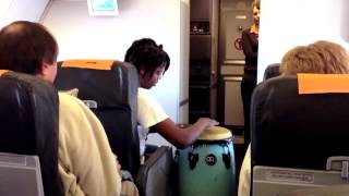 MiCasa performs live on a Mango flight