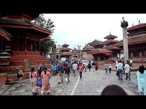 Walking in Durbar Square Kathmandu