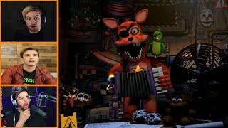 Let's Players Reaction To Meeting Rockstar Foxy For The First Time | Fnaf
