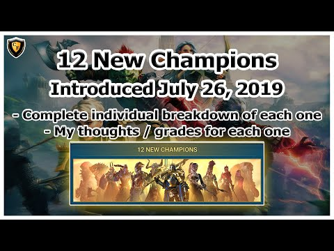 RAID Shadow Legends | 12 New Champions | July 26, 2019 | My Thoughts / Grades