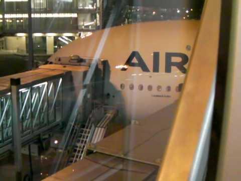 Boarding A380 at Paris CDG