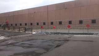Back of the ice processing center