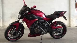 Yamaha MT-07-R 2016 Lava Red Explosion Accessories
