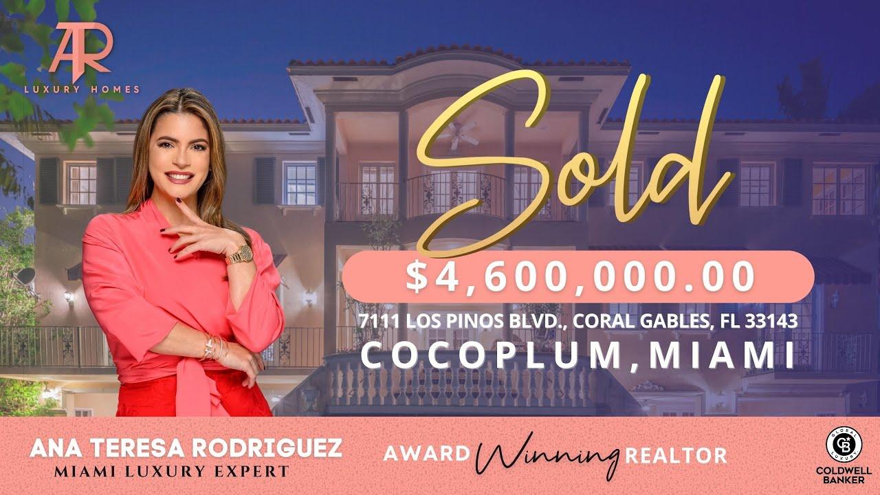 #Miami SOLD: 7111 Los Pinos Blvd, Coral Gables 33143