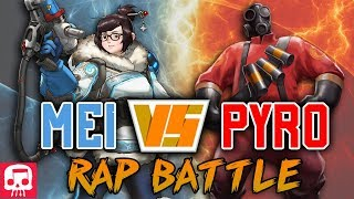 MEI VS PYRO RAP BATTLE by JT Music (Overwatch vs TF2)