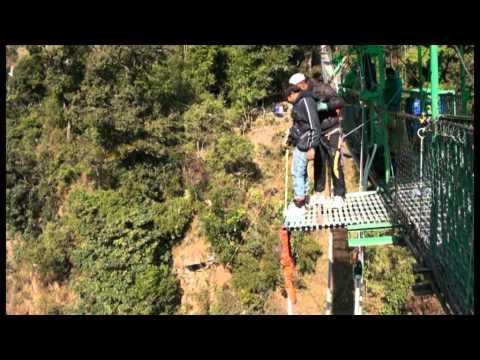 chaman golecha's bungy jump at last resort, Himalayas…!!!