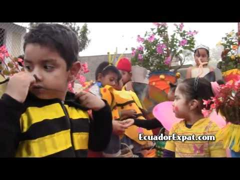 Expats in Fiestas de la Jora Parade, Cotacachi, Ecuador
