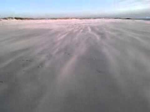 The wind on the beach near BIg Bay
