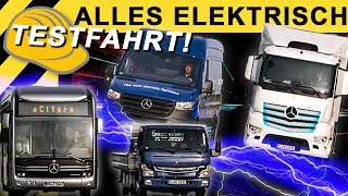Alles elektrisch! Testfahrt Elektro Flotte von Daimler   IAA 2018