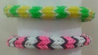 TUTO: bracelet élastique quadrafish (Rainbow Loom)