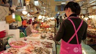 Guia de viagem - Mercado de peixe de Jagalchi, Busan   Expedia.com.br
