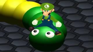 Pacman vs Luigi  Super Mario Slither.io