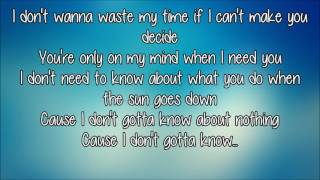 joji - I Don't Wanna Waste My Time (lyrics)