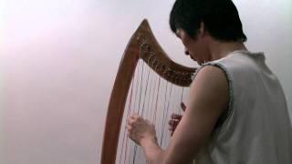 바흐  미뉴에트 (바하 미뉴엣) 하프연주 Bach Minuet Cross Strung Harp (Christian Petzold) ハープ演奏 하피스트 김흥곤