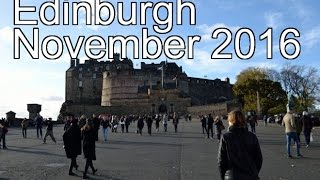 Edinburgh CityTrip November 2016