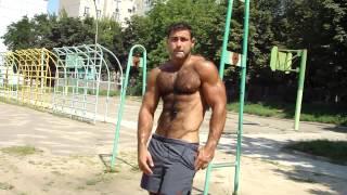 muscle hairy bodybuilder