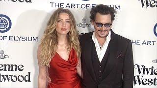 Johnny Depp & Amber Heard | 2016 HEAVEN Gala Red Carpet