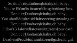 Metallica - Die, Die My Darling with Lyrics.