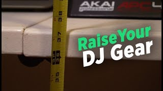 How To Raise Up Folding Tables To DJ Height