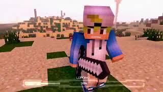 Intro no teks 3D Minecraft