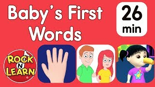 Baby's First Words - Body Parts, Family & More   When will my toddler speak?