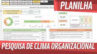 Apresentação - Planilha de Pesquisa de Clima Organizacional