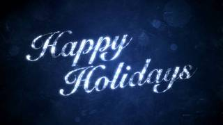 Happy Holidays on Blue - HD Background Loop