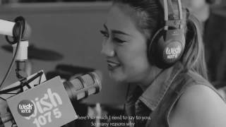 "Morissette covers ""Against All Odds"" with lyrics black and white"
