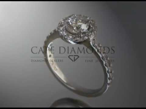 Complex stone ring,round diamond,band with small round diamonds,engagement ring