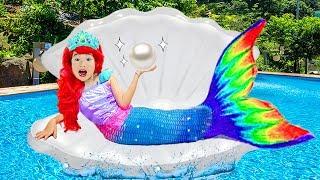 보람이와 별이의 인어공주 변신해서 롯데월드 아쿠아리움 체험놀이 Boram changes dresses and turns into mermaid