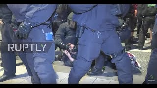 Germany: Police detain several people at anti-G20 protests