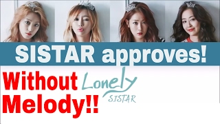(PIANO INSTRUMENTAL) 씨스타 (SISTAR) - LONELY  (Color Coded Han|Rom|Eng Lyrics) Karaoke MR No Melody
