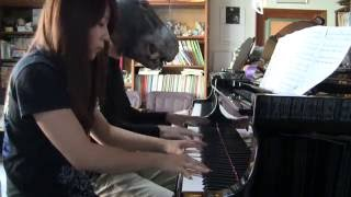 """【BABYMETAL】""""シンコペーション (Syncopation)"""" Piano 4 hands cover ピアノ連弾してみた"""