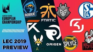LEC 2019 Teams & Players Preview