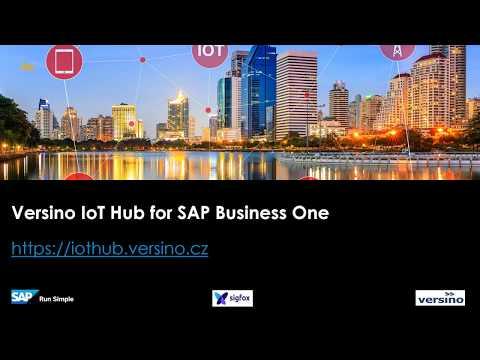 Versino IoT Hub for SAP Business One powered by SAP Cloud Platform