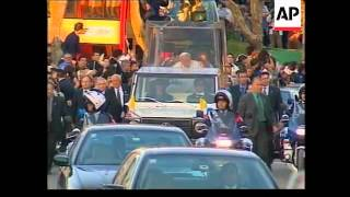 PORTUGAL: POPE JOHN PAUL II ARRIVAL