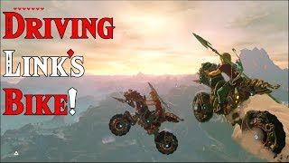 DRIVING Link's Motorcycle: Master Cycle Zero in Zelda Breath of the Wild DLC