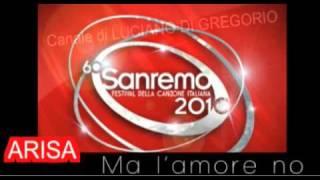 FESTIVAL DI SANREMO 2010 - ARISA Malamorenò