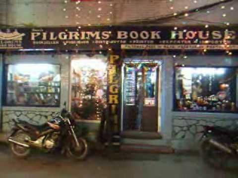 Nepal Kathmandu Pilgrims feed  N read restaurant .wmv